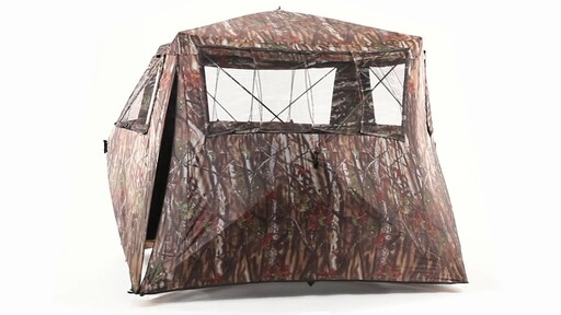 Guide Gear Camo Flare Out 5-Hub Ground Hunting Blind 360 View - image 8 from the video