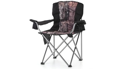 Guide Gear Mossy Oak Break-Up COUNTRY Oversized King Chair 500-lb.Capacity 360 View - image 3 from the video