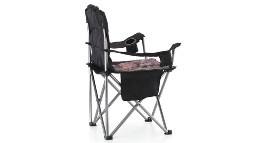 Guide Gear Mossy Oak Break-Up COUNTRY Oversized King Chair 500-lb.Capacity 360 View - image 7 from the video