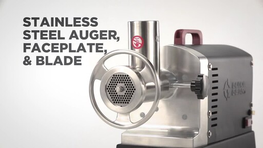Guide Gear Series #22 Electric Commercial Grade Meat Grinder 1 HP - image 3 from the video