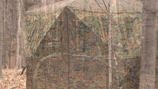 Guide Gear Silent Adrenaline Camo Ground Hunting Blind - image 10 from the video