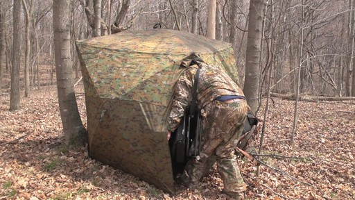 Guide Gear Silent Adrenaline Camo Ground Hunting Blind - image 3 from the video