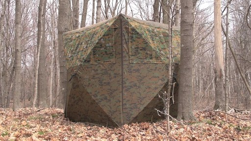 Guide Gear Silent Adrenaline Camo Ground Hunting Blind - image 5 from the video