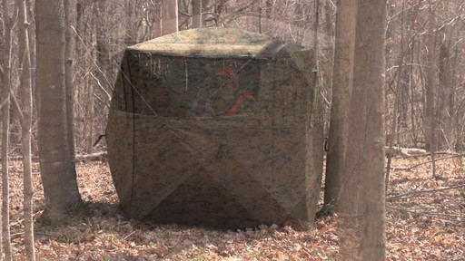 Guide Gear Silent Adrenaline Camo Ground Hunting Blind - image 8 from the video