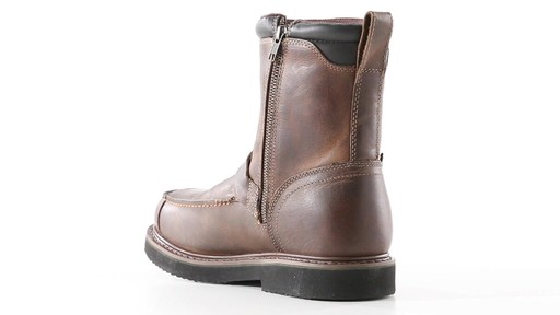 Guide Gear Men's Uplander Hunting Boots Waterproof Side-zip 360 View - image 3 from the video