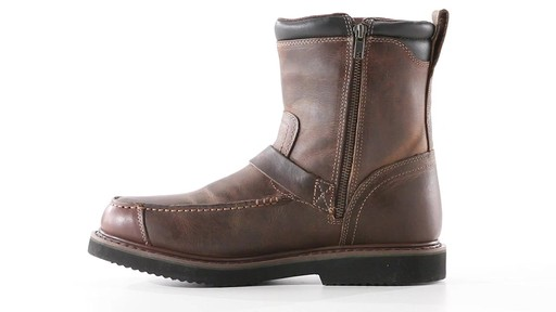 Guide Gear Men's Uplander Hunting Boots Waterproof Side-zip 360 View - image 4 from the video