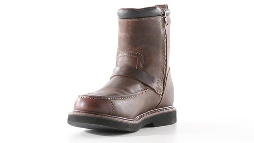 Guide Gear Men's Uplander Hunting Boots Waterproof Side-zip 360 View - image 5 from the video