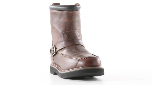 Guide Gear Men's Uplander Hunting Boots Waterproof Side-zip 360 View - image 6 from the video