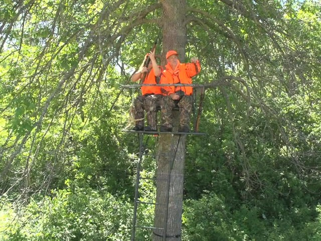 Guide Gear 18' Double Rail 2-man Ladder Tree Stand - image 3 from the video
