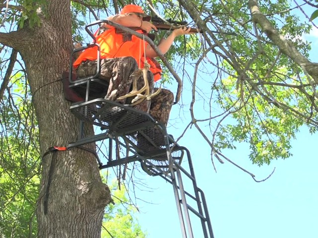 Guide Gear 18' Double Rail 2-man Ladder Tree Stand - image 4 from the video