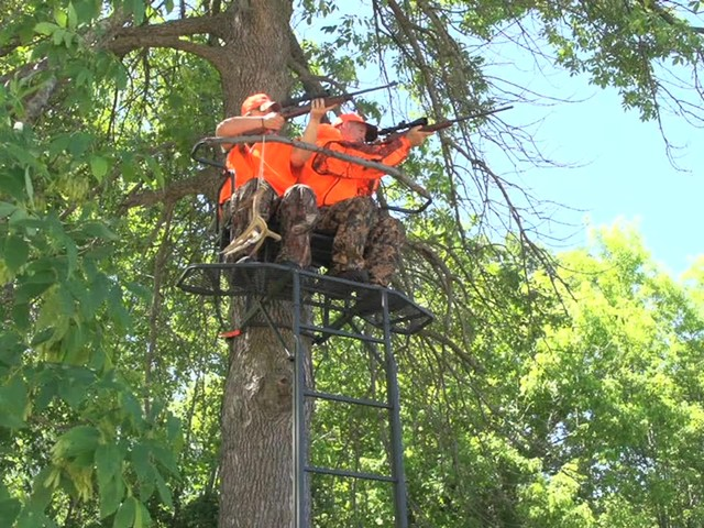 Guide Gear 18' Double Rail 2-man Ladder Tree Stand - image 8 from the video