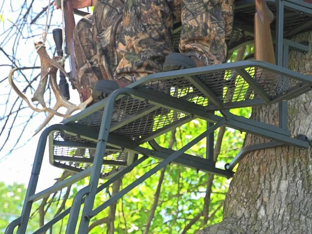 Guide Gear 18' Double Rail 2-man Ladder Tree Stand - image 9 from the video
