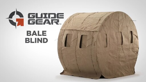 Guide Gear Bale Blind Ground Blind - image 1 from the video