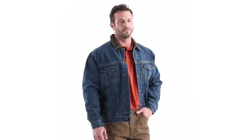 Guide Gear Men's Quilt Lined Denim Jacket 360 View - image 1 from the video