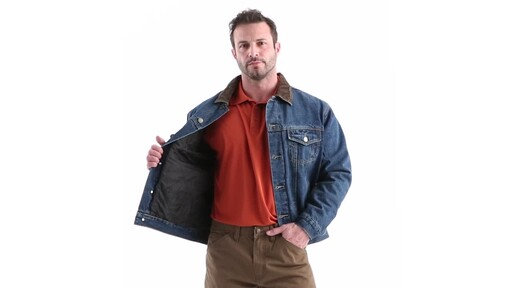 Guide Gear Men's Quilt Lined Denim Jacket 360 View - image 10 from the video