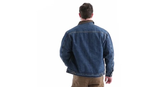 Guide Gear Men's Quilt Lined Denim Jacket 360 View - image 4 from the video