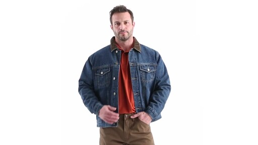Guide Gear Men's Quilt Lined Denim Jacket 360 View - image 8 from the video