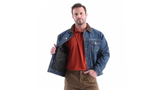 Guide Gear Men's Quilt Lined Denim Jacket 360 View - image 9 from the video