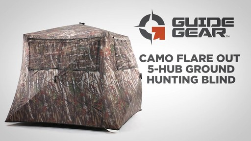 Guide Gear Camo Flare Out 5-Hub Ground Hunting Blind - image 1 from the video