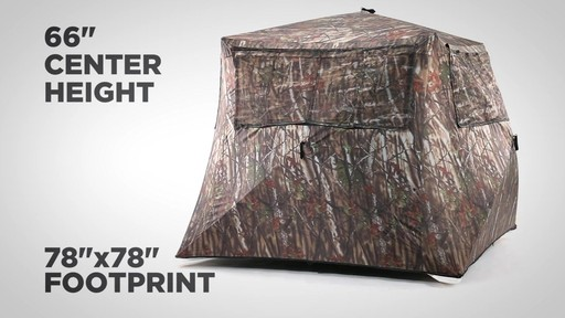 Guide Gear Camo Flare Out 5-Hub Ground Hunting Blind - image 5 from the video