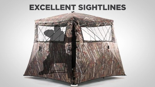Guide Gear Camo Flare Out 5-Hub Ground Hunting Blind - image 6 from the video