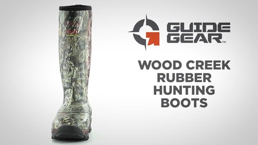 Guide Gear Men's Wood Creek Rubber Hunting Boots Waterproof - image 1 from the video