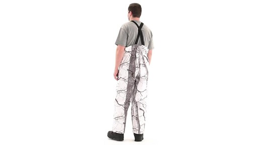 Huntworth Snow Camo Hunting Bibs 360 View - image 2 from the video