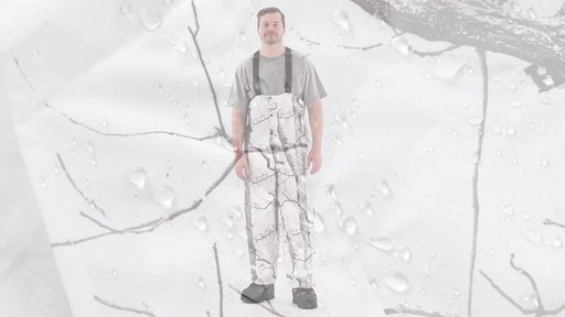 Huntworth Snow Camo Hunting Bibs 360 View - image 4 from the video
