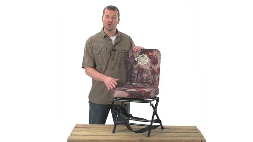 Guide Gear Swivel Hunting Chair Camo - image 3 from the video