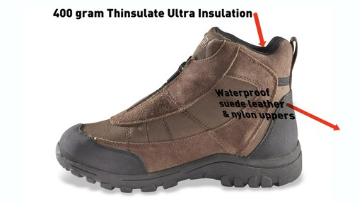 Guide Gear Men's Silvercliff Insulated Boots Waterproof Thinsulate 400 Gram - image 6 from the video