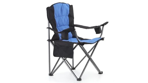Guide Gear Oversized King Camp Chair 500 lb. Capacity Blue 360 View - image 5 from the video