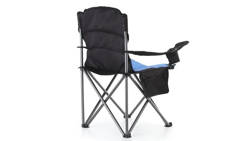 Guide Gear Oversized King Camp Chair 500 lb. Capacity Blue 360 View - image 7 from the video