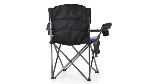 Guide Gear Oversized King Camp Chair 500 lb. Capacity Blue 360 View - image 8 from the video