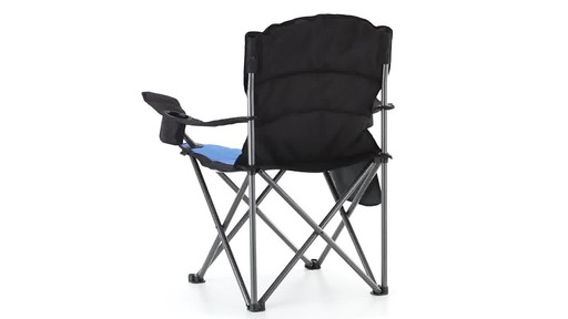 Guide Gear Oversized King Camp Chair 500 lb. Capacity Blue 360 View - image 9 from the video