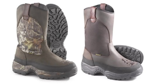 Guide Gear Men's Hunting Pull-On Boots 1000 Gram Thinsulate Waterproof - image 10 from the video