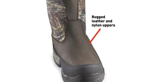 Guide Gear Men's Hunting Pull-On Boots 1000 Gram Thinsulate Waterproof - image 2 from the video