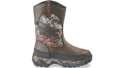 Guide Gear Men's Hunting Pull-On Boots 1000 Gram Thinsulate Waterproof - image 6 from the video
