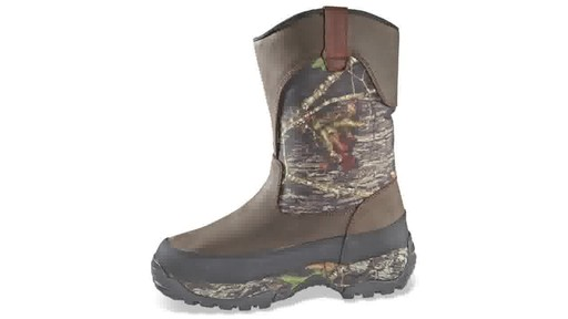 Guide Gear Men's Hunting Pull-On Boots 1000 Gram Thinsulate Waterproof - image 9 from the video
