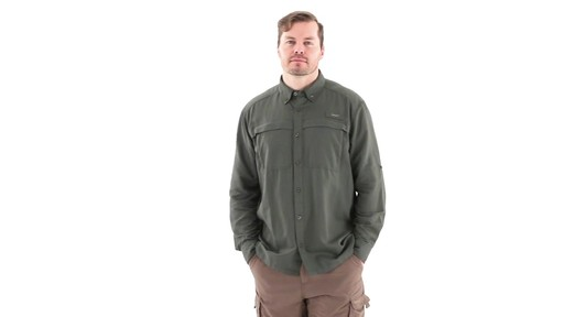 Guide Gear Men's Traverse Long Sleeve Shirt 360 View - image 7 from the video