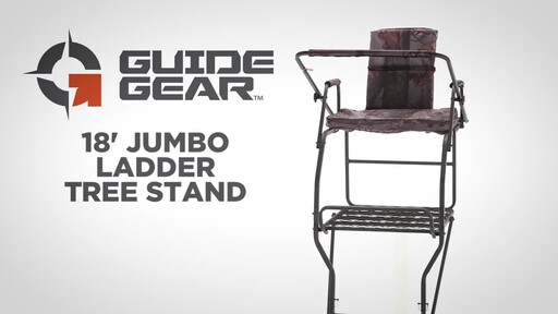 Guide Gear 18' Jumbo Ladder Tree Stand - image 1 from the video