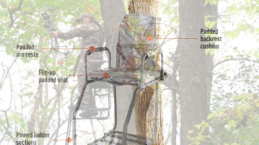 Guide Gear 16' Archer's Ladder Tree Stand - image 5 from the video