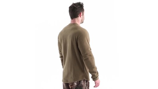 Guide Gear Men's Heavyweight Fleece Base Layer Top 360 View - image 4 from the video