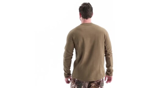 Guide Gear Men's Heavyweight Fleece Base Layer Top 360 View - image 6 from the video