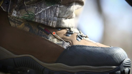 Guide Gear Sentry Hunting Boots Waterproof 2000 Gram Insulated Realtree Xtra - image 3 from the video