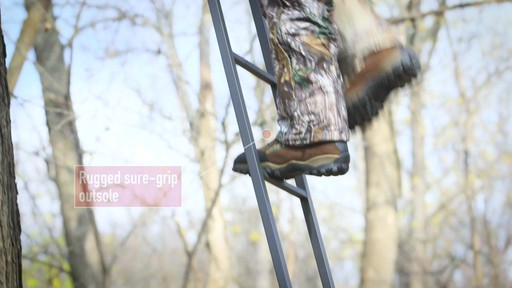 Guide Gear Sentry Hunting Boots Waterproof 2000 Gram Insulated Realtree Xtra - image 6 from the video