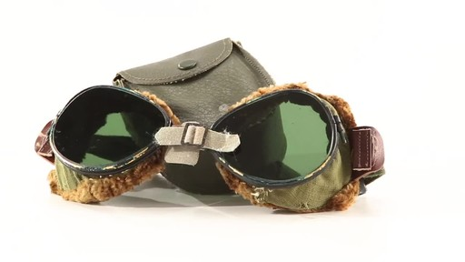 Used U.S. Military Surplus WWII Foster Grant Goggles 360 View - image 1 from the video