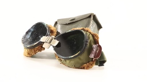 Used U.S. Military Surplus WWII Foster Grant Goggles 360 View - image 10 from the video