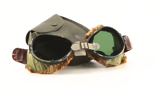Used U.S. Military Surplus WWII Foster Grant Goggles 360 View - image 2 from the video
