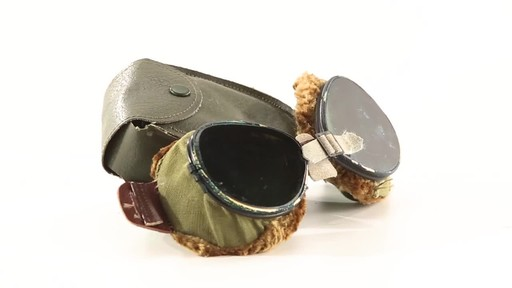 Used U.S. Military Surplus WWII Foster Grant Goggles 360 View - image 3 from the video