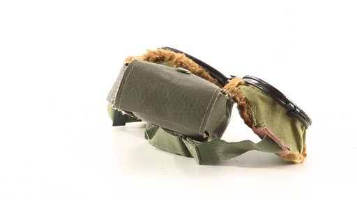 Used U.S. Military Surplus WWII Foster Grant Goggles 360 View - image 5 from the video